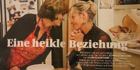 Meryl Streep als Schwiegermutter und Uma Thurman als potenzielle Schwiegertochter beim Kochen in der Filmkomödie