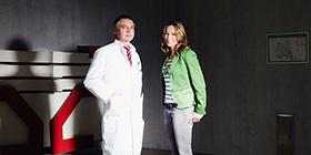 Kickboxerin Christine Theiss und Neurologe Thomas Tölle